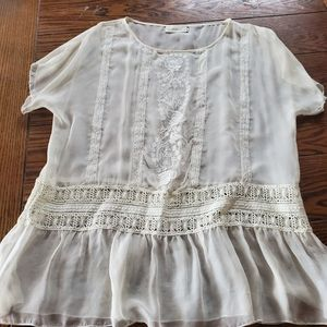 Johnny Was 4 Love and Liberty white lace b…